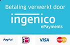 Alle door ons geaccepteerde betaalmethoden PayPal, Idea, Mastercard, Visa